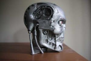 terminator t800, druk 3d popiersie, rzeźby, modele 3D, #cosplay