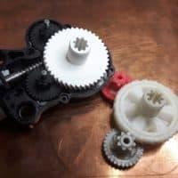 druk 3d zębatki, naprawa silnika do podnoszenia foteli mercedes, naprawa części plastikowych, projektowanie cad, inżynieria odwrotna, projektowanie na podstawie części