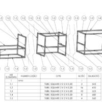 Projektowanie mebli, projektowanie cad poznań, sporządzanie rysunku technicznego, konstrukcje spawane cad