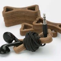 druk 3d poznań, filament laywood, druk 3d drewnopodobny, druk 3d imitujący drewno, prototypy funkcjonalne, druk 3d finalnego produktu, zwijacz do słuchawek bonie